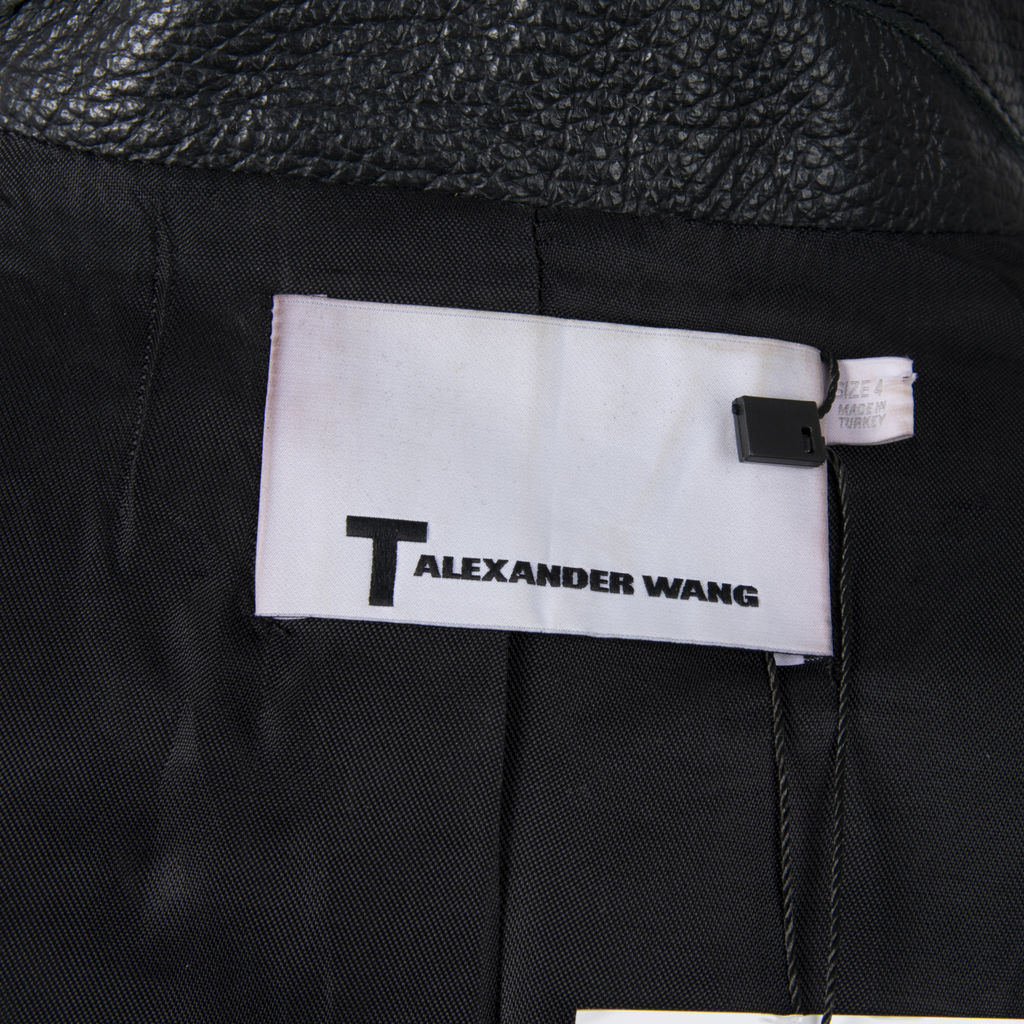 T by Alexander Wang Cropped Leather Jacket