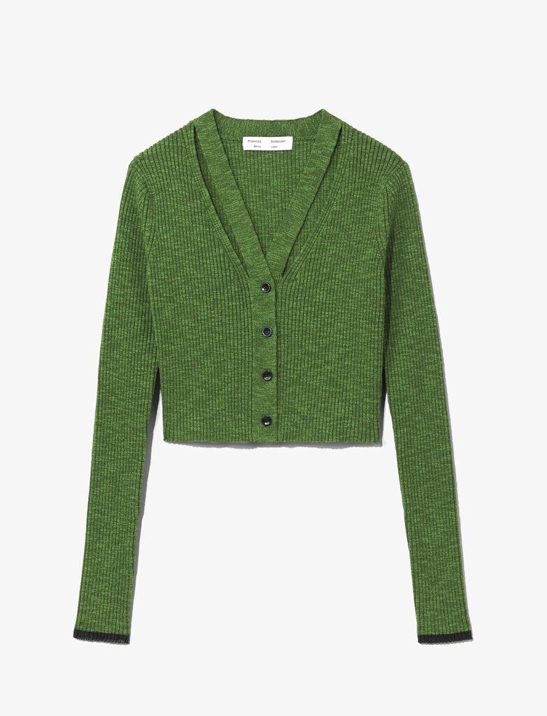 Fine Gauge Rib Knit Crop Cardigan