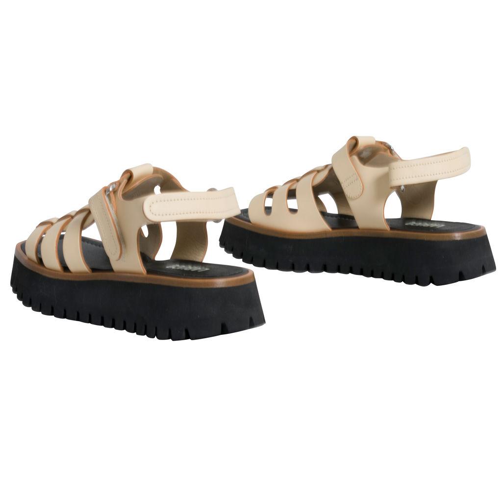 Labucq Boomer Sandal in Cream