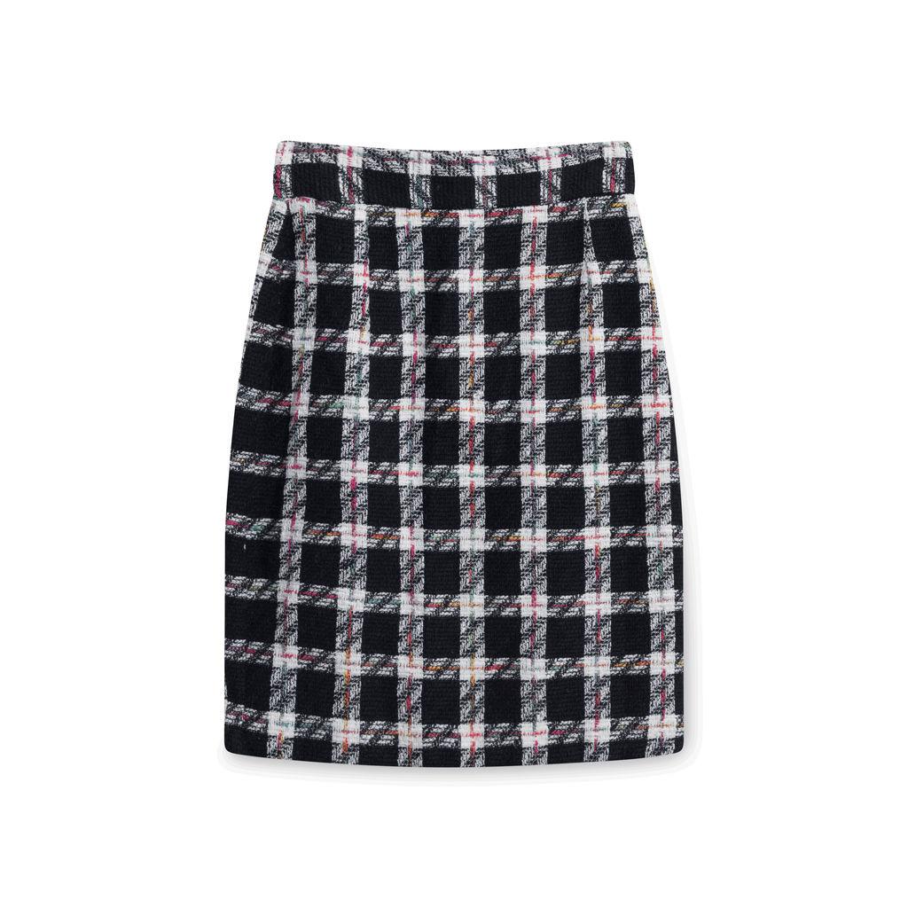 Vintage Plaid Blazer and Skirt Set