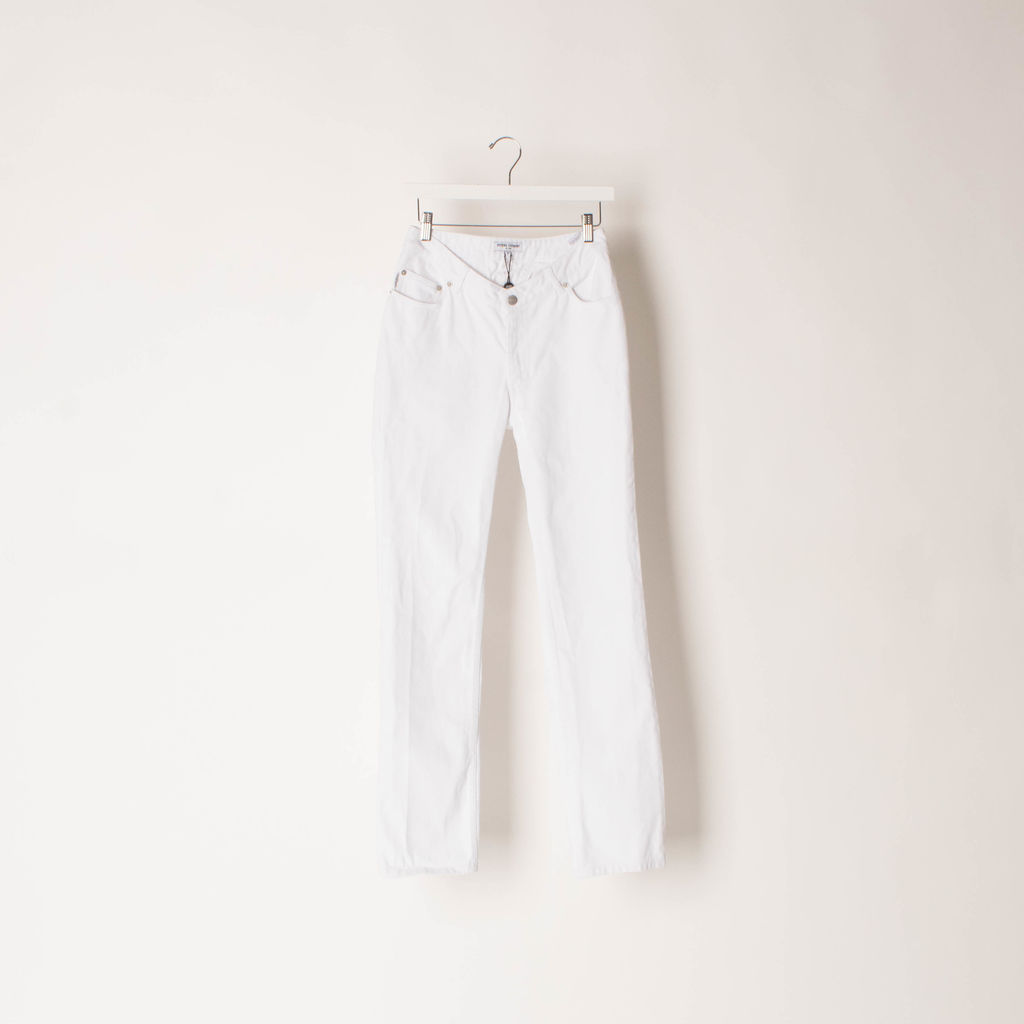 Opening Ceremony White Dip Jeans