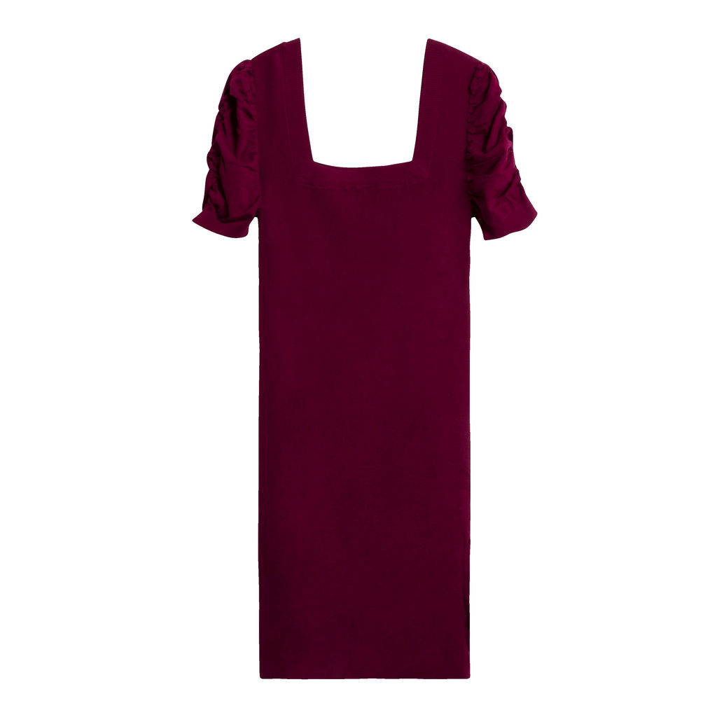 Public Habit Cindy Midi Dress in Burgundy