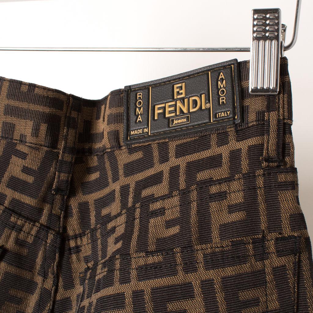 Vintage Original Fendi Logo Pants