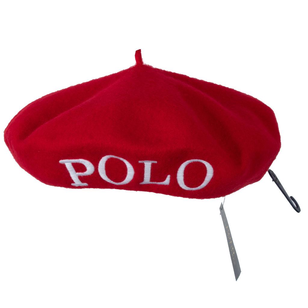 Ralph Lauren Polo Beret- Red