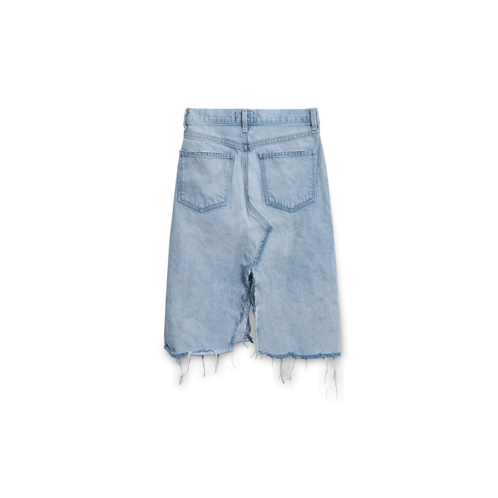 Agolde Distressed Culotte Skirt