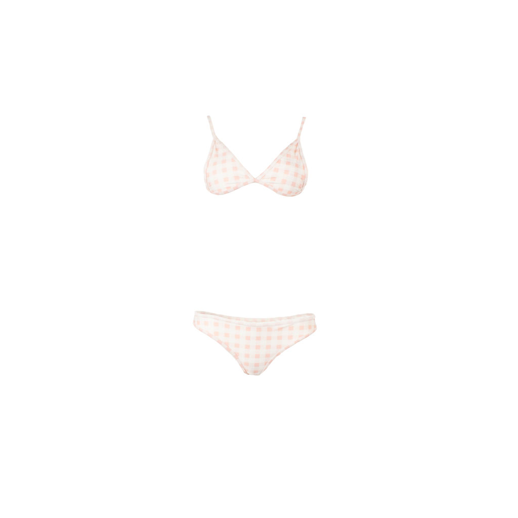 For Love And Lemons Gingham Bikini Top