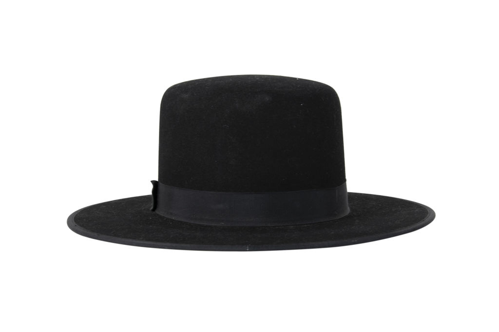 Stetson Amish Buffalo Fur Felt Open Crown Fedora Hat