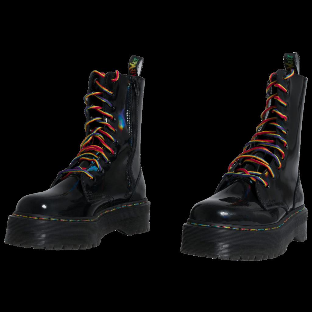 Dr. Martens Jadon Hi Boots in Rainbow
