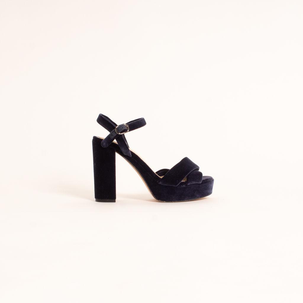 Imagine Vince Camuto Valora3 Velvet Platform Sandals