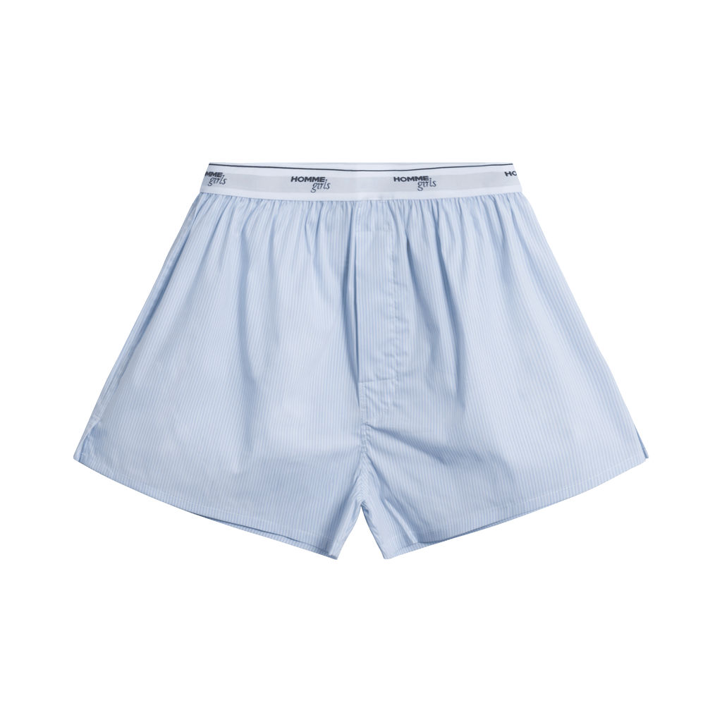 HommeGirls White Stripe Boxer Shorts