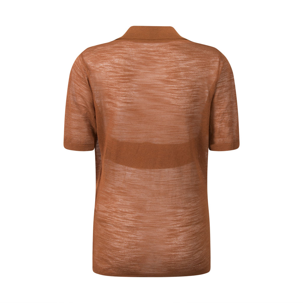 Jacquemus Polo Top with Halter Bandeau- Rust