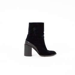 Dear Frances Blue Velvet Spirit Boots curated by Steffi Kerson