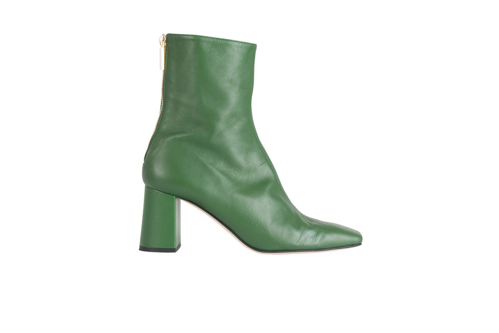 Dear Frances Cube Boot Forest Green