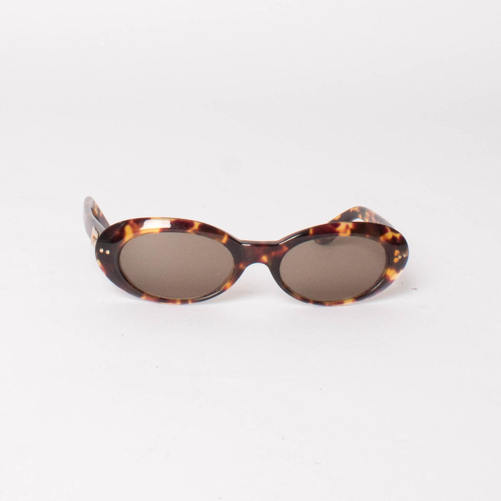 Gucci Vintage 90s Tortoise Shell Oval Sunglasses