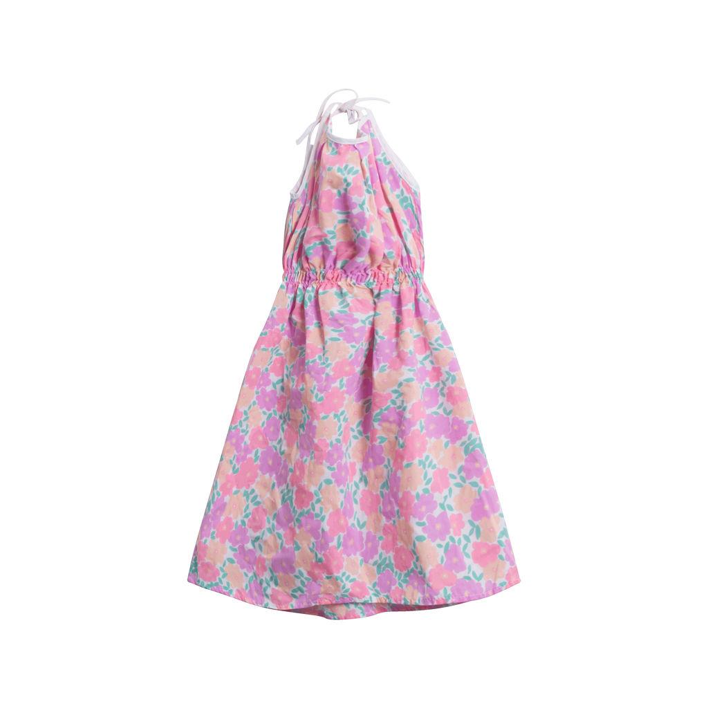 Vintage Floral Dress- Pink