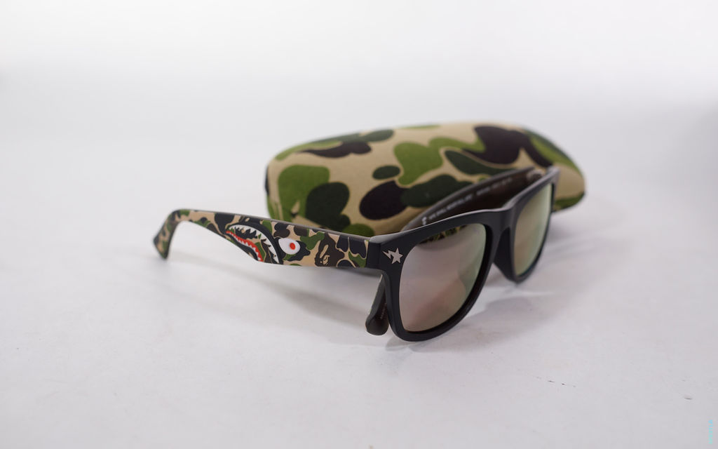 BAPE Father & Son ABC Camo Shark Sunglasses