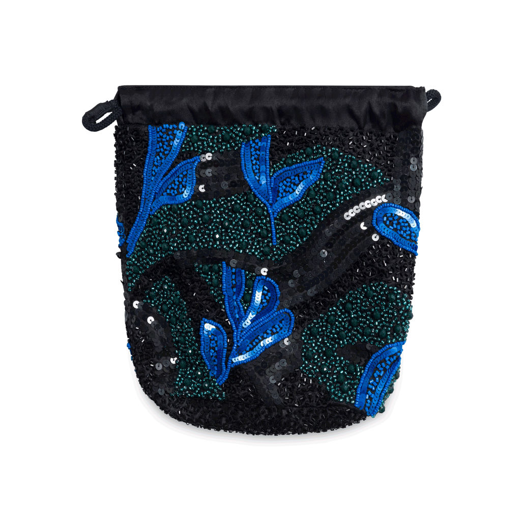 Pouch Sunsky Beaded Hat Bag - Black/Blue