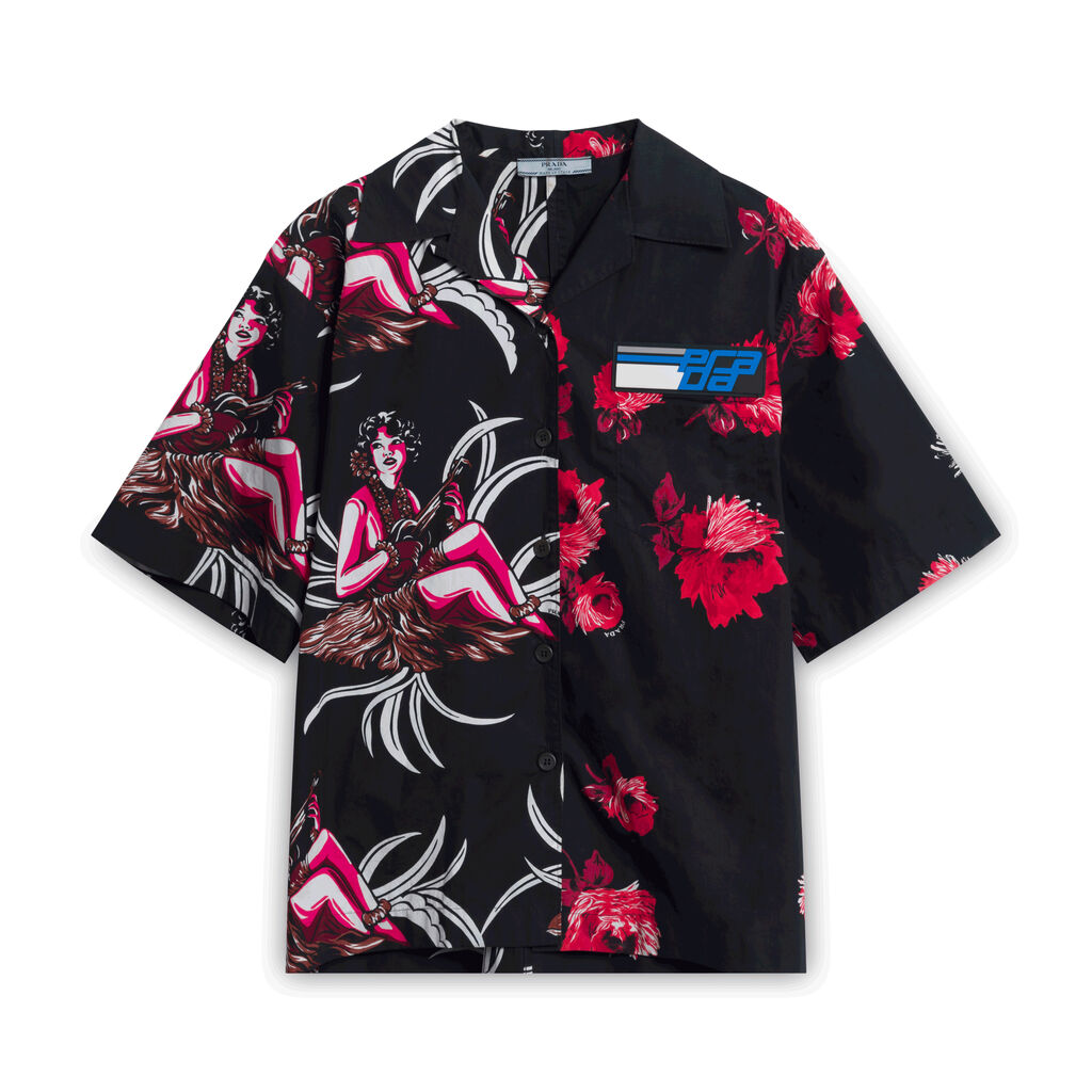 Prada Milano Hawaiian Shirt - Black