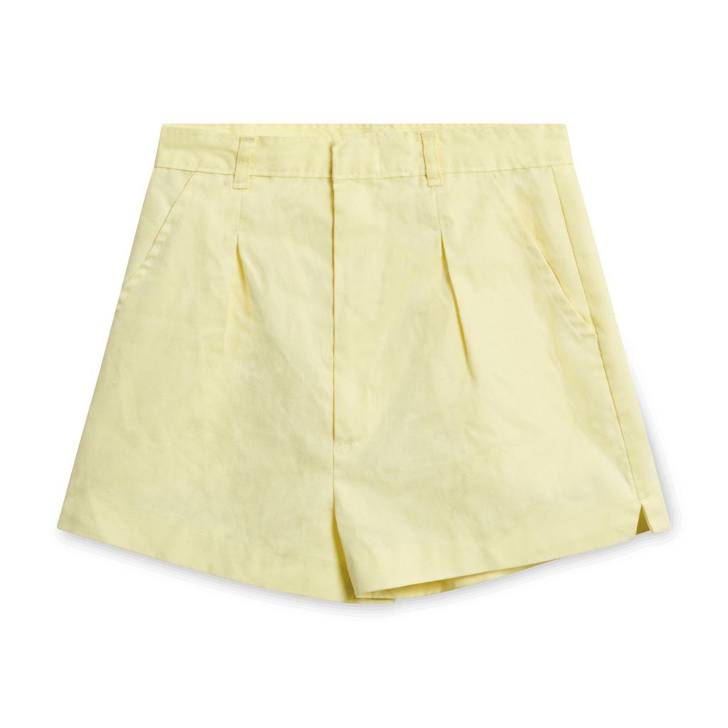 Vintage Light Yellow Shorts