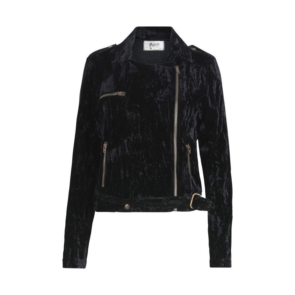 Nightcap X Carisa Rene Crushed Velvet Moto Jacket