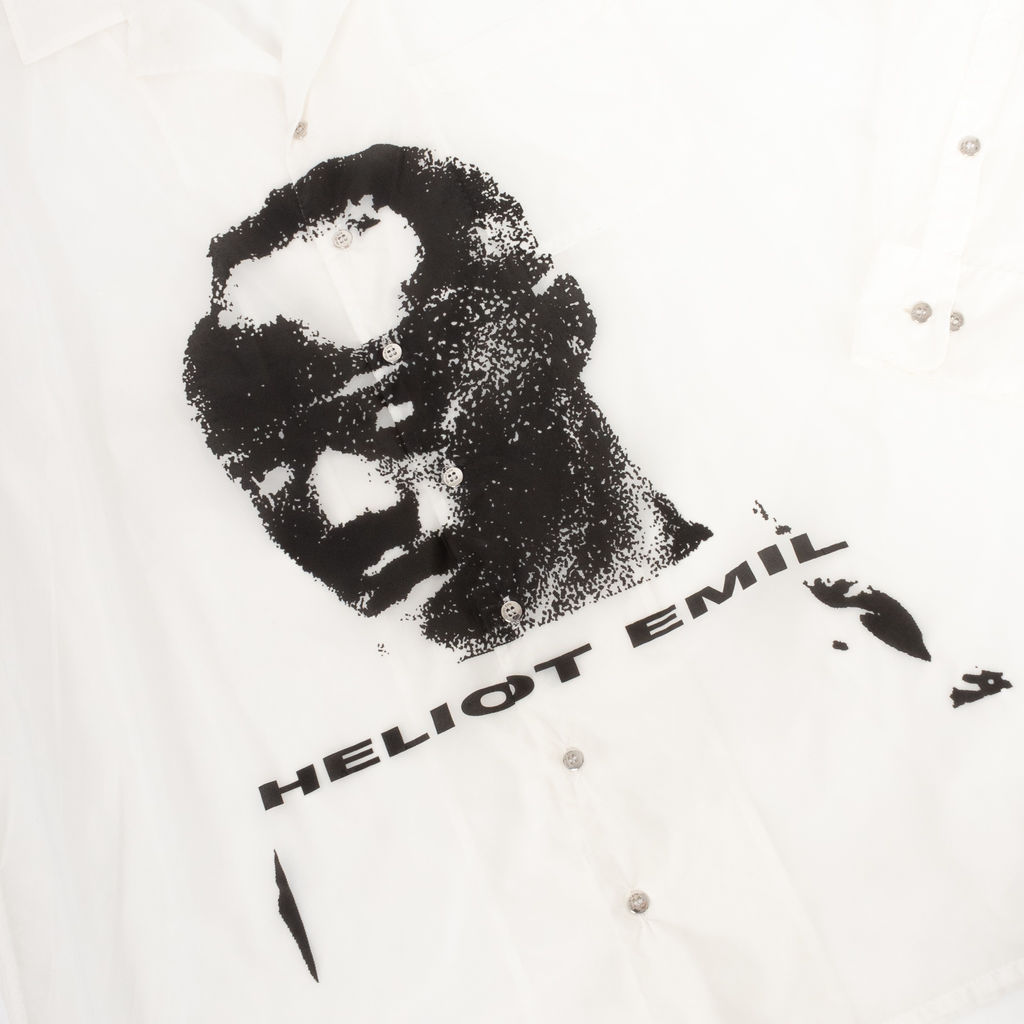 Heliot Emil Printed Face Transparent Button Down