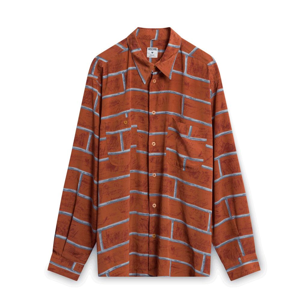 Moschino Brick Patterned Button-Down Shirt
