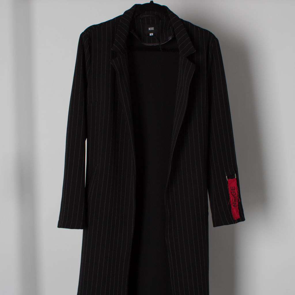 Neige Trench Pinstripe Trench Coat