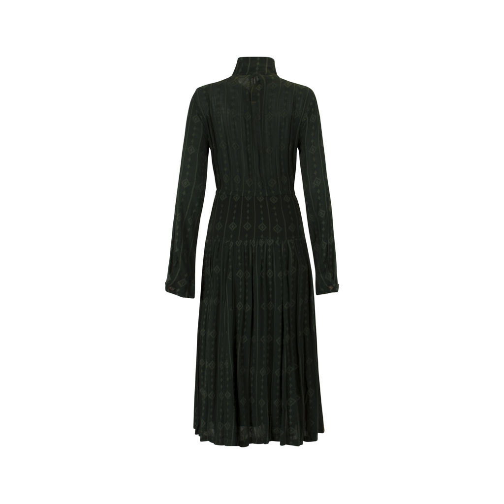 Free People Forest Green Long Sleeve Dress