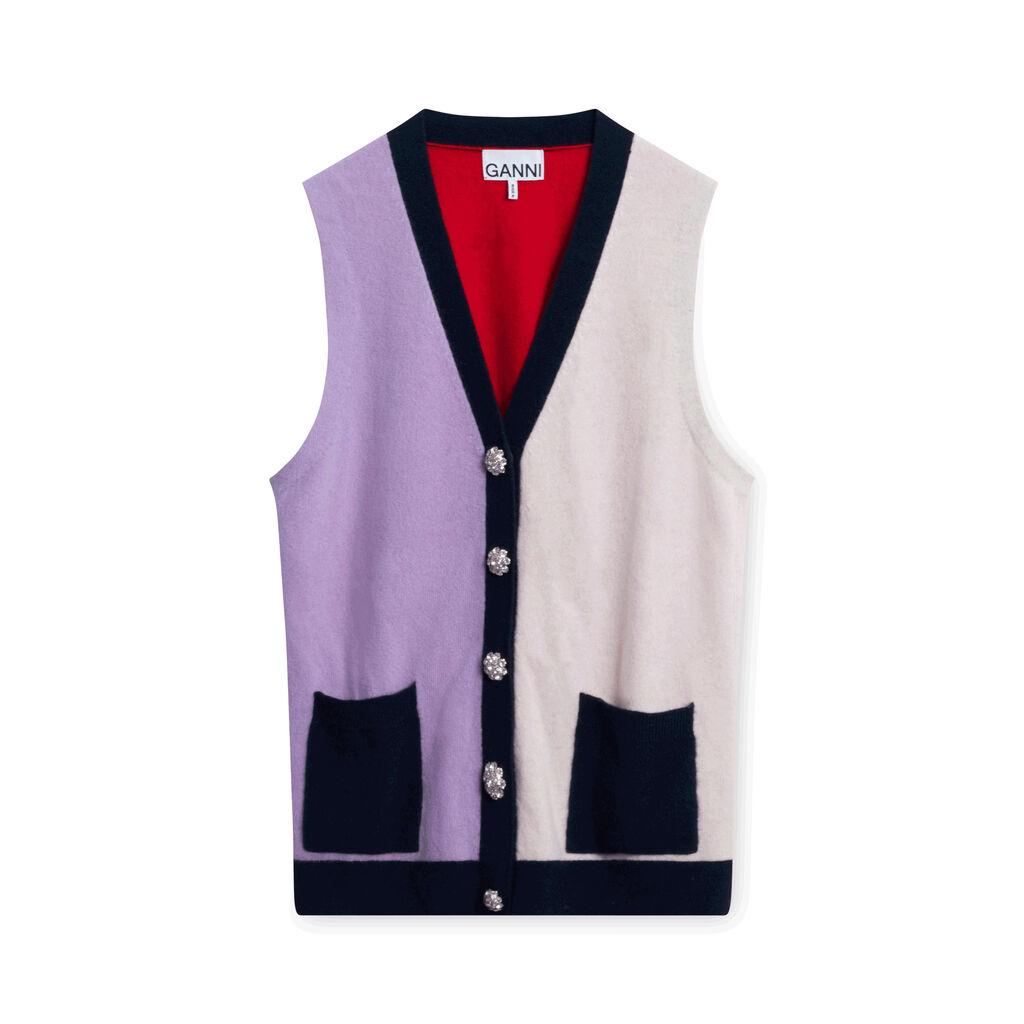 Ganni Colorblock Knit Vest