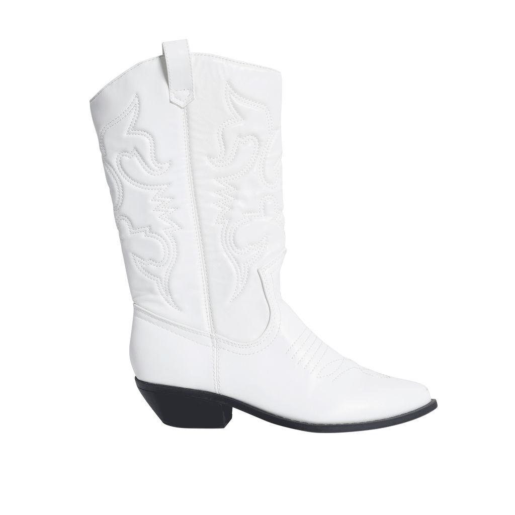 Soda White Cowboy Boots