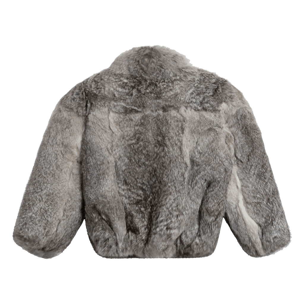 Vintage Caravelle Fur Coat (Grey)