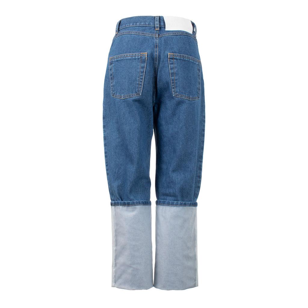 Ksenia Schnaider Transparent Roll Hem Jeans