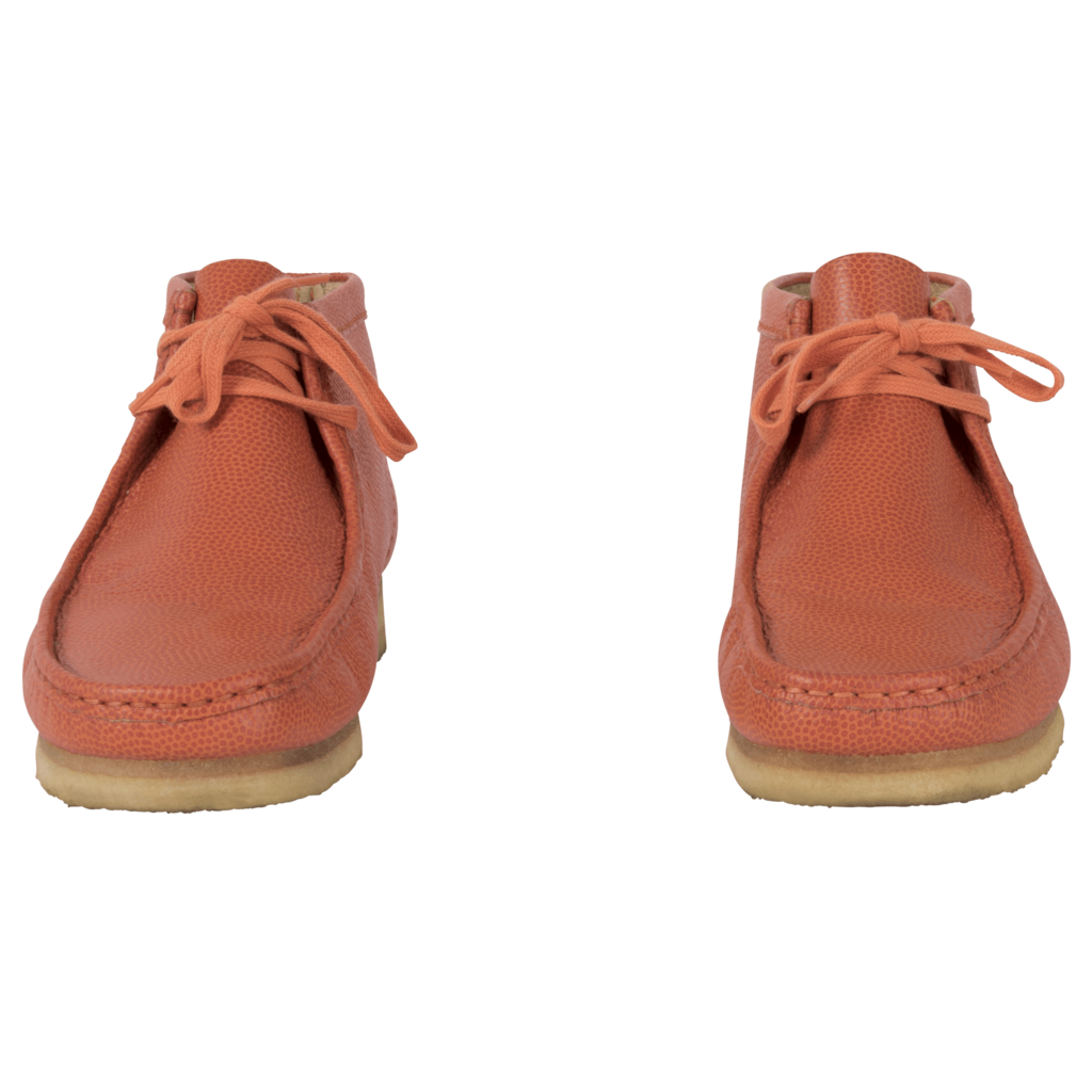 Clarks Originals Orange Leather Wallabee Boot