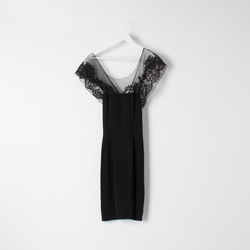 Vintage 70's Black Dress curated by Sophia Amoruso