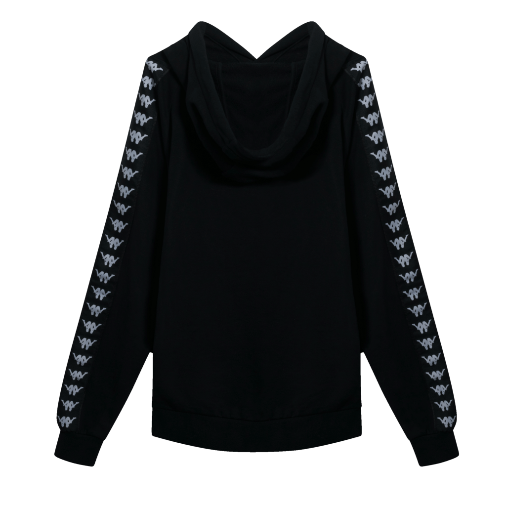 Kappa Baccello Pullover Hoodie in Black