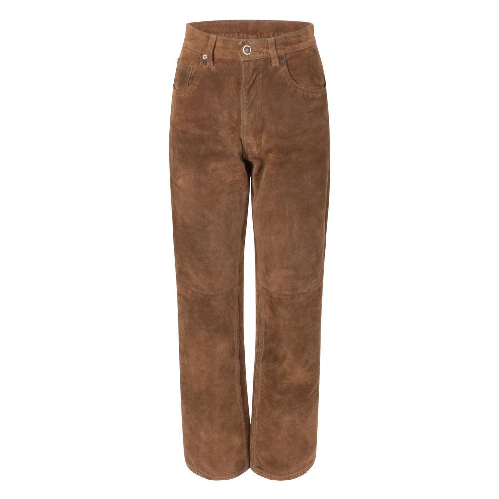Skotts Suede Brown Pants