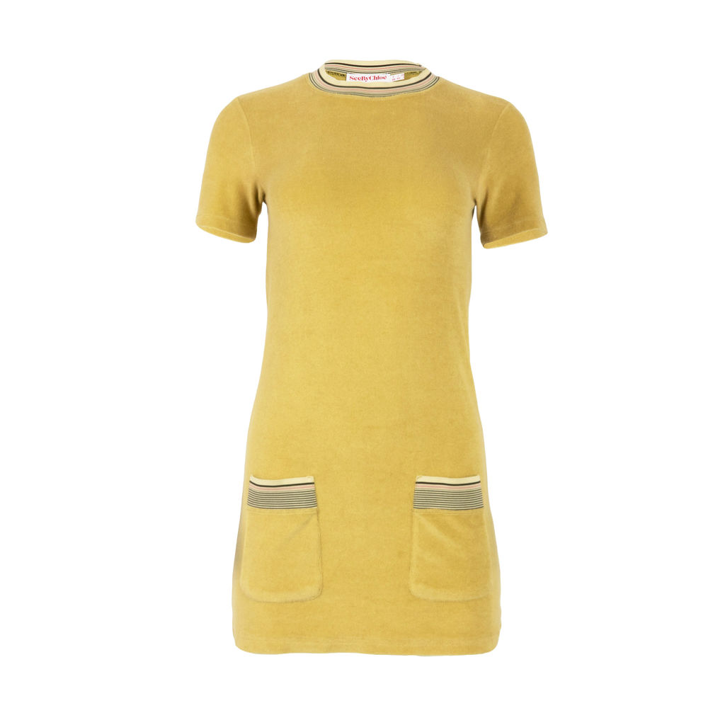 See by Chloe Velour Mini Dress