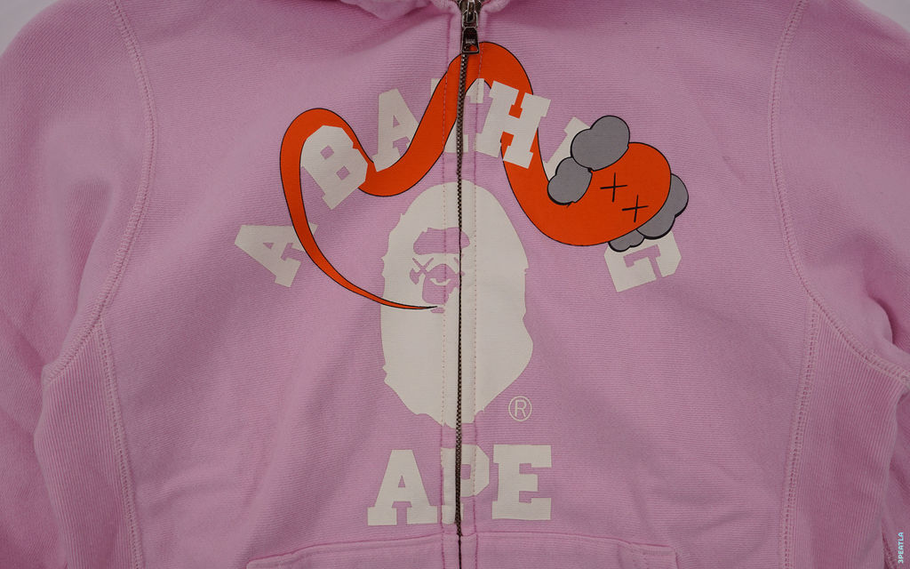 BAPE Bendy College Logo Full Zip Hoodie