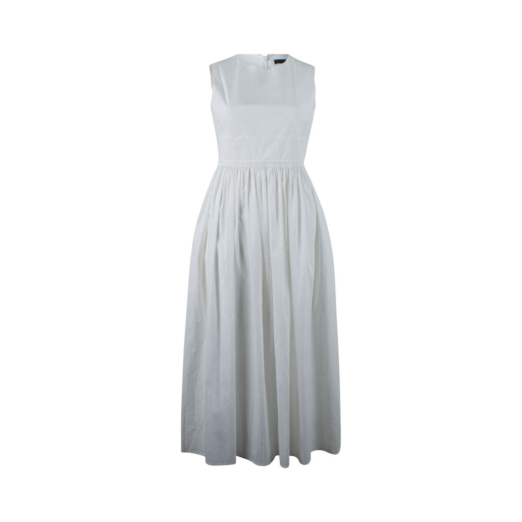 The Row White Sleeveless Dress