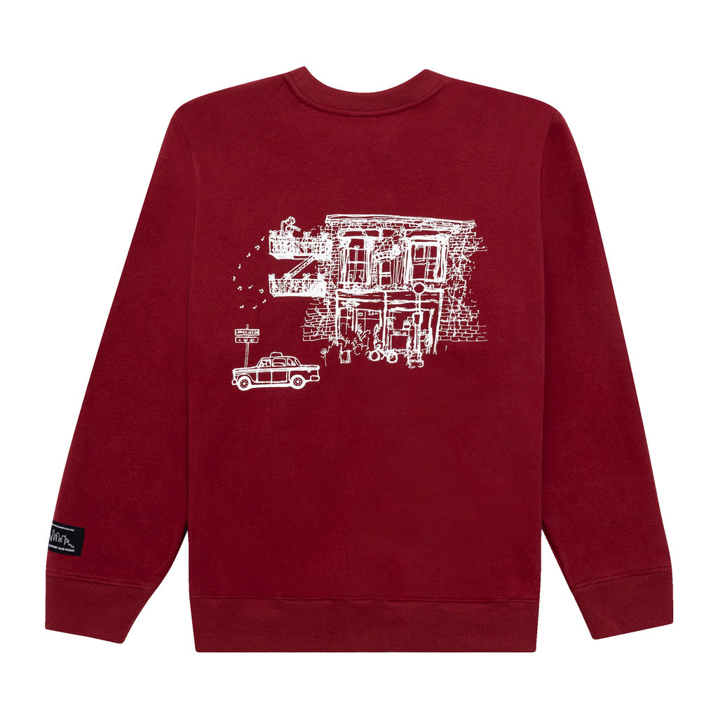 KROST x Barneys NY Community Crewneck in Red