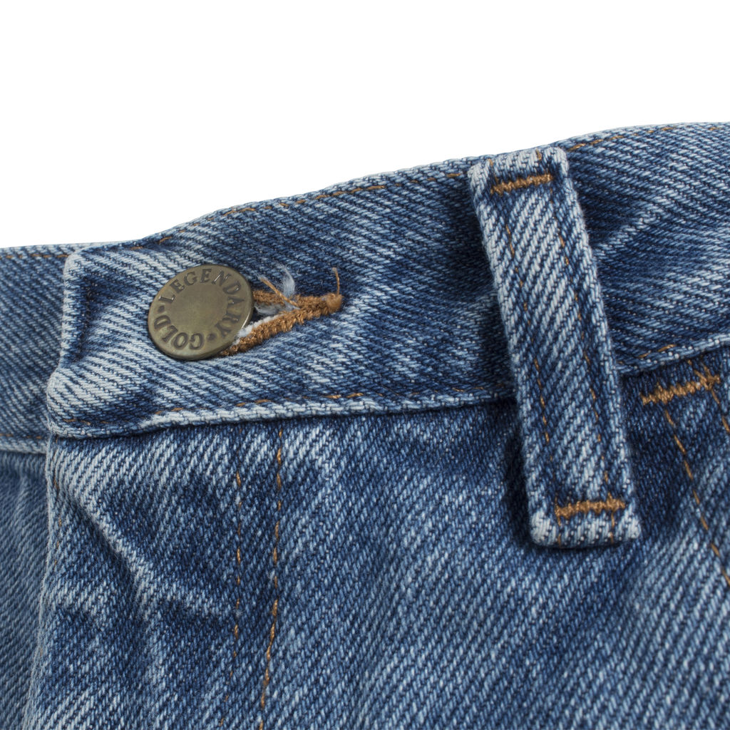 Legendary Gold High Waisted Cropped Denim Jeans