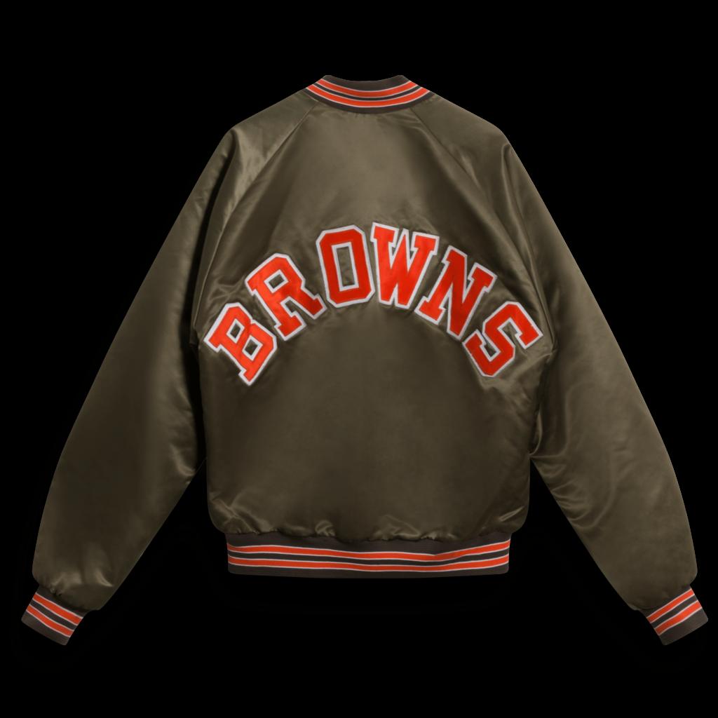 Vintage Cleveland Browns Satin Swingster Bomber Jacket