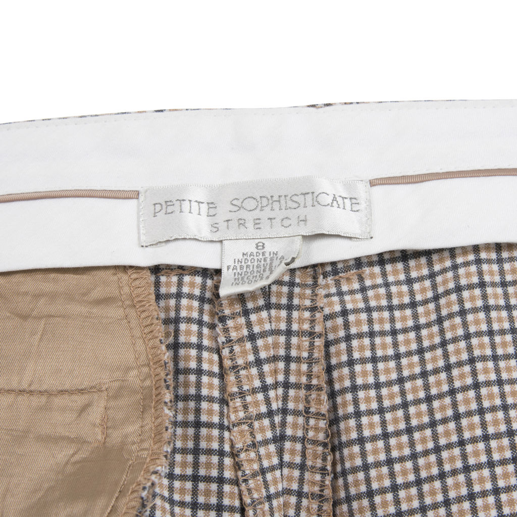 Vintage Tan Plaid Checkered Trousers