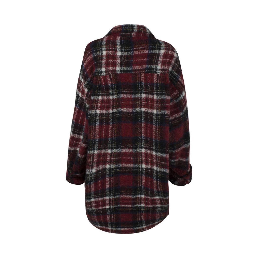 The Kooples Cherry Check Coat