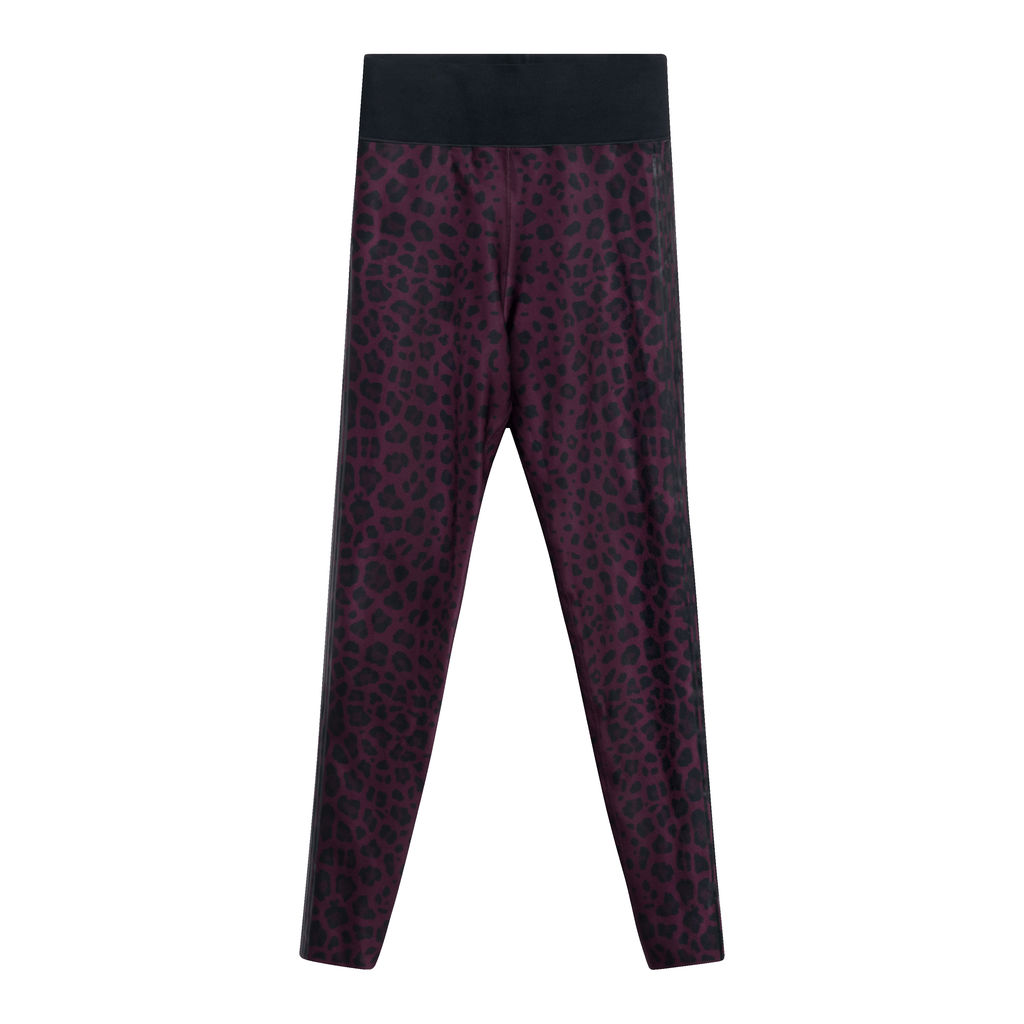 Ultracor Amina Six Stripe Leopard Legging in Garnet/Nero