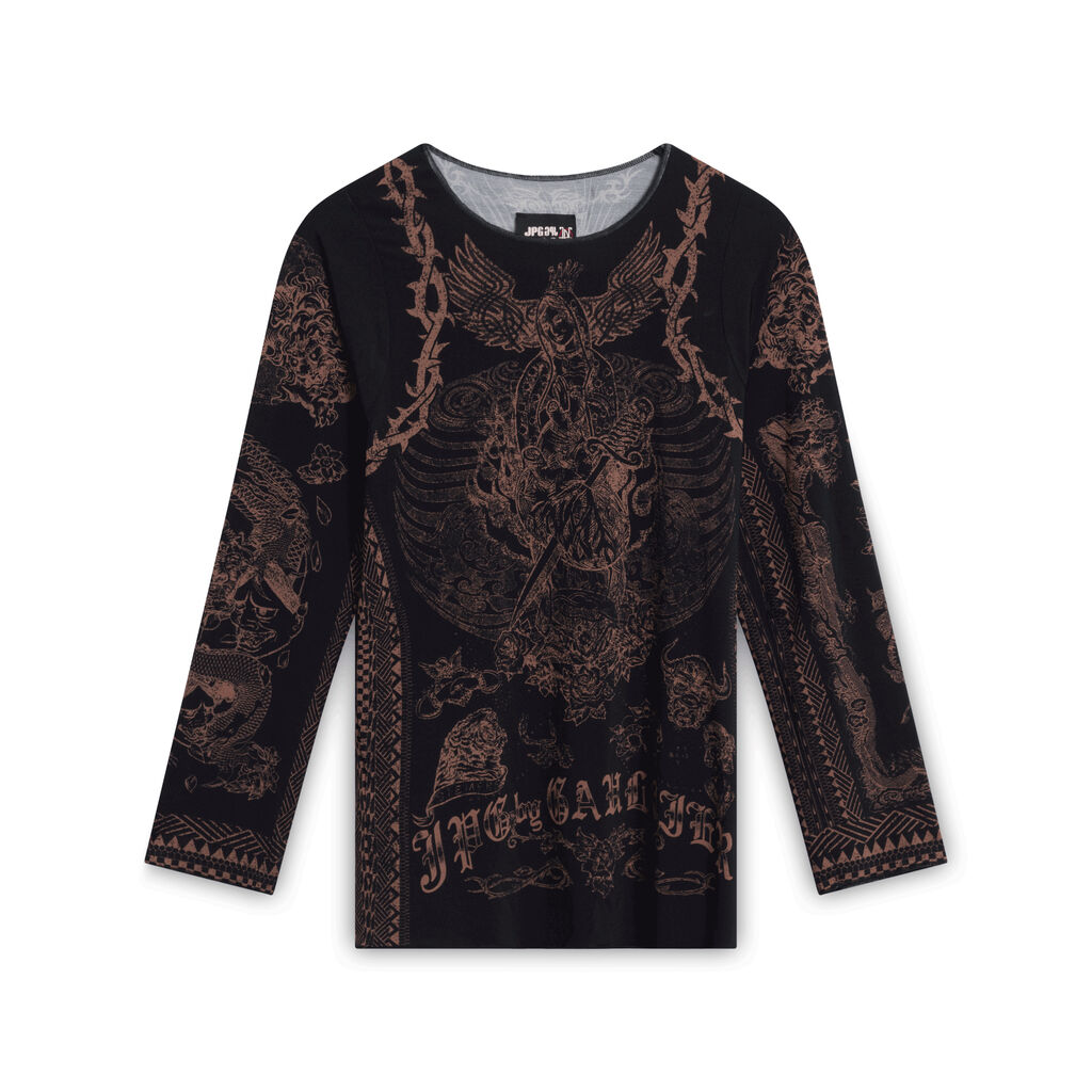 JPG by Gaultier Graphic Long Sleeve - Black