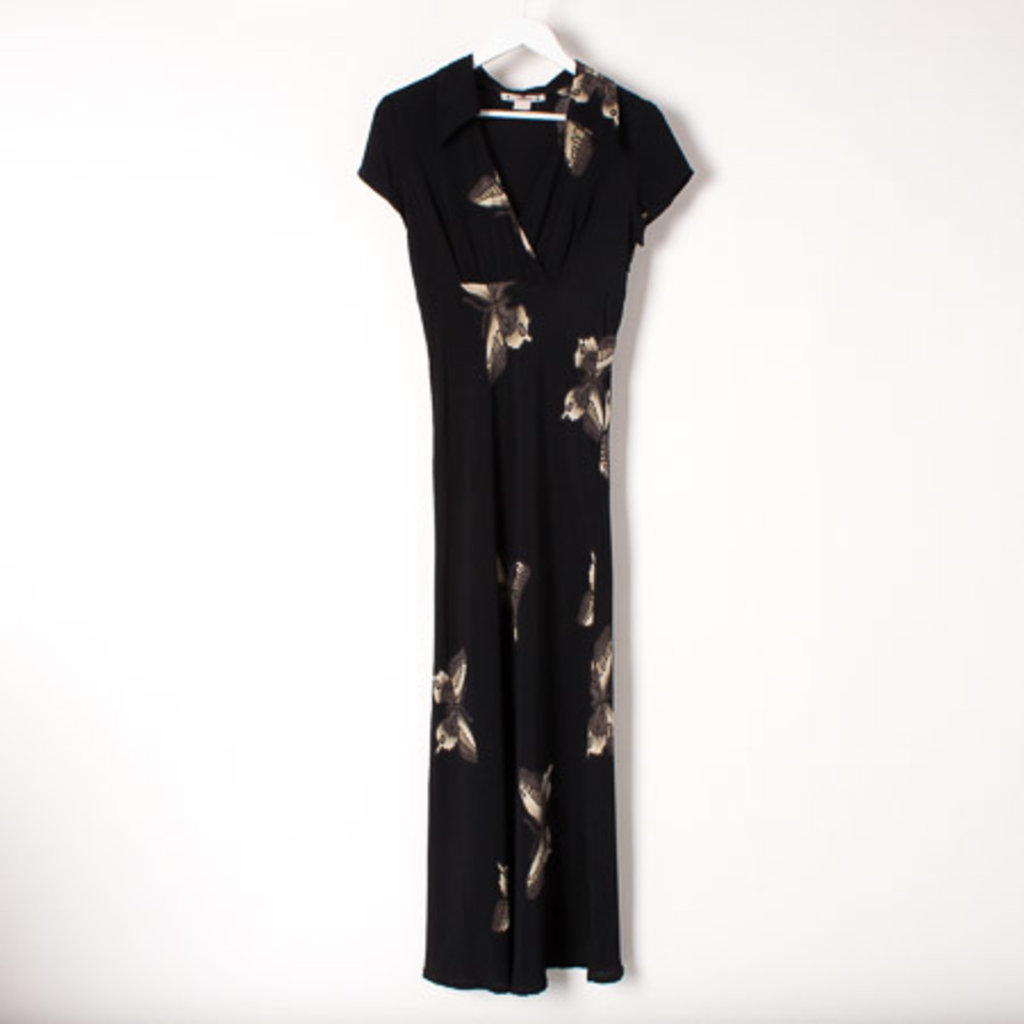 Vintage 90s Style Dress with Butterfly Print curated by Sophia Amoruso