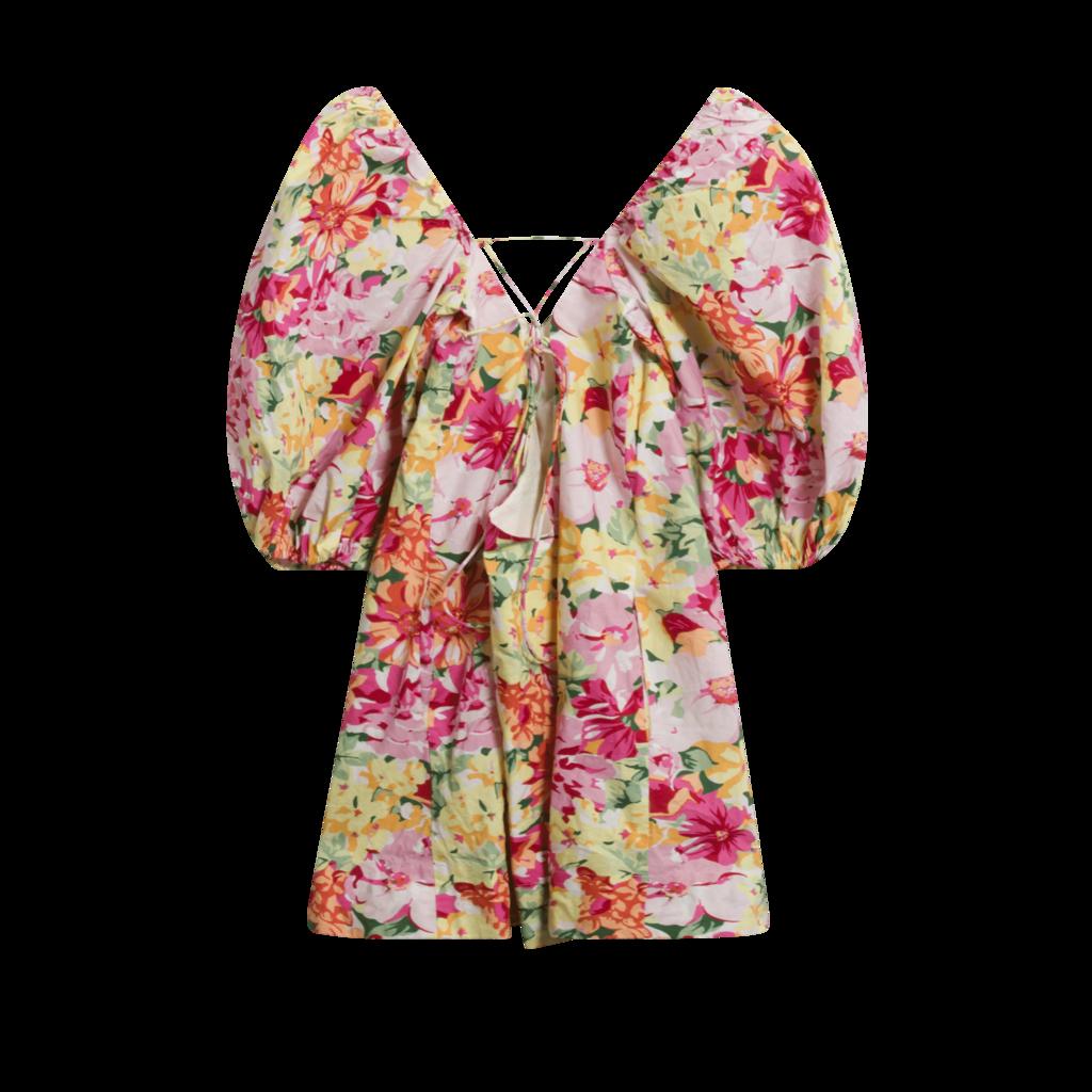 LPA Samantha Puff Sleeve Mini Dress