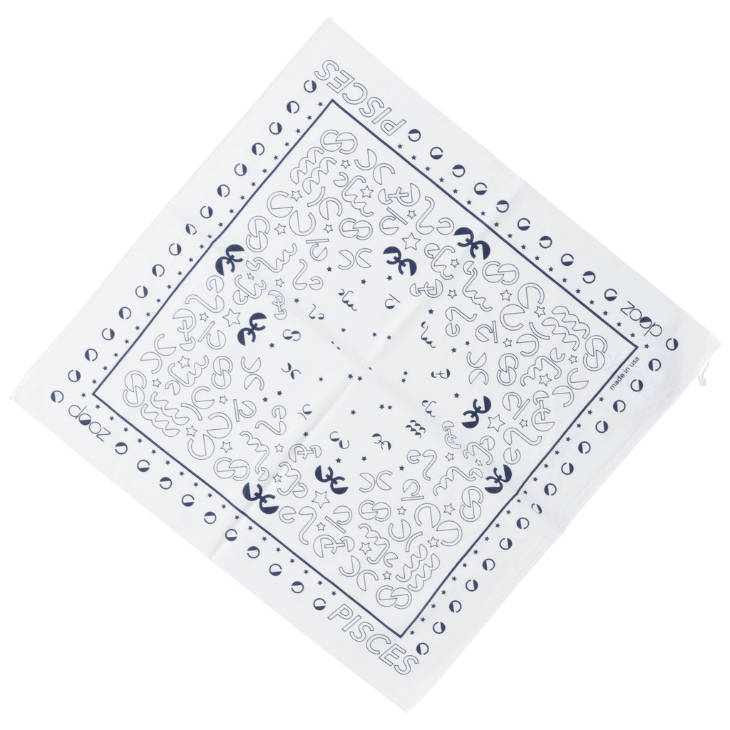 DOOZ Pisces Bandana + Keychain Set in White
