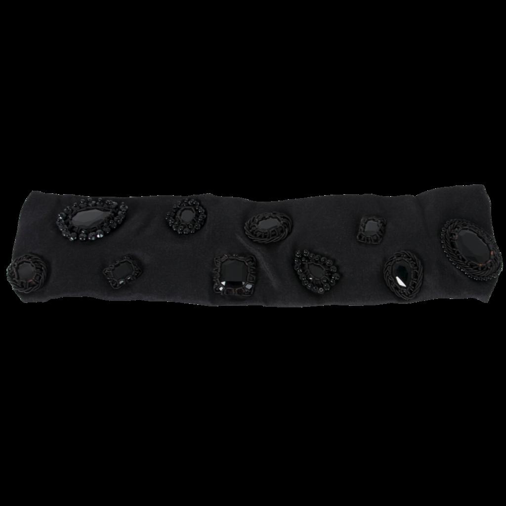 Azeeza Monotone Noir Embellished Elastic Headband